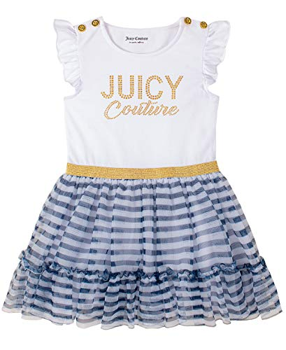 Juicy Couture Baby Girls' Dress, White/Navy Stripes