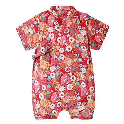 PAUBOLI Baby Japanese Kimono Robe Organic Cotton Infant Comfy Loose Pajama