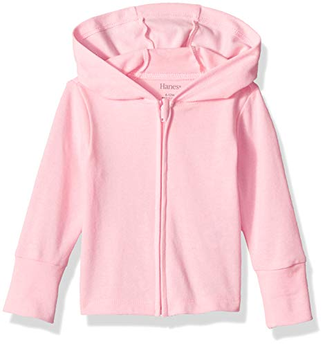 Hanes Ultimate Baby Zippin Knit Hoodie, Pink