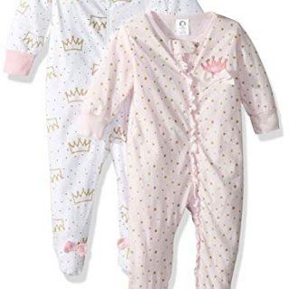 GERBER Baby Girls' 2-Pack Sleep 'N Play, Princess Crown