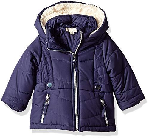 Jessica Simpson Baby Girls Satin Bubble Jacket, Navy