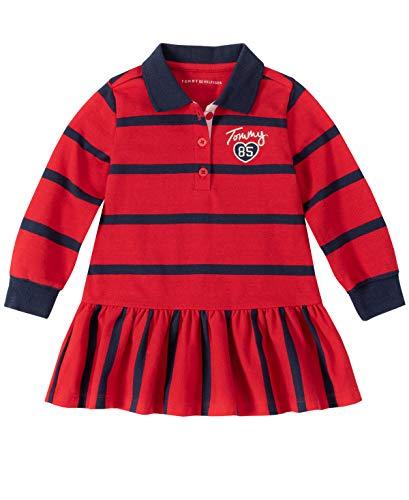 Tommy Hilfiger Baby Girls Dress, Red Navy Stripes