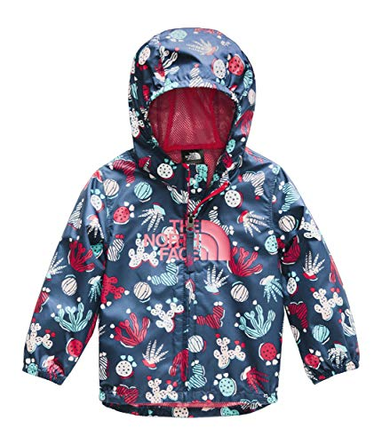 The North Face Infant Novelty Flurry Wind Jacket, Blue Wing Teal Cactus Lino Print