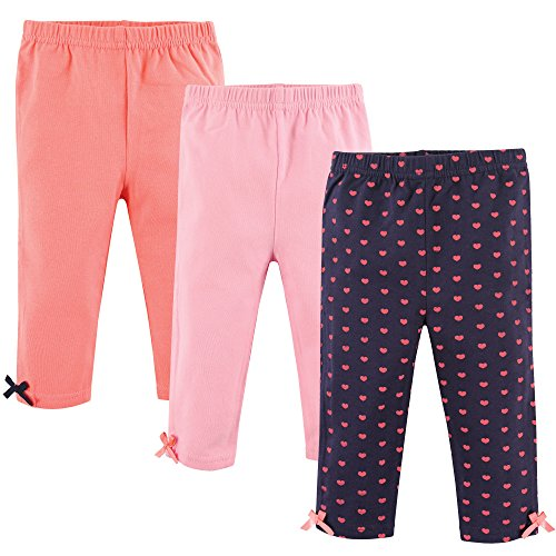 Hudson Baby Unisex Baby Cotton Pants, Hearts