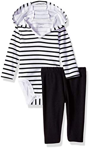 Hanes Ultimate Baby Flexy 2 Piece Set (Pant with Hoodie Bodysuit)