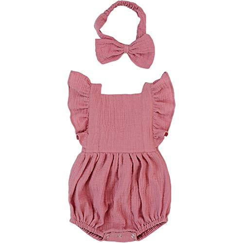 Luckikikids Baby Romper Girl Organic Cotton 0-3 6 9 Months Baby Girl Boutique