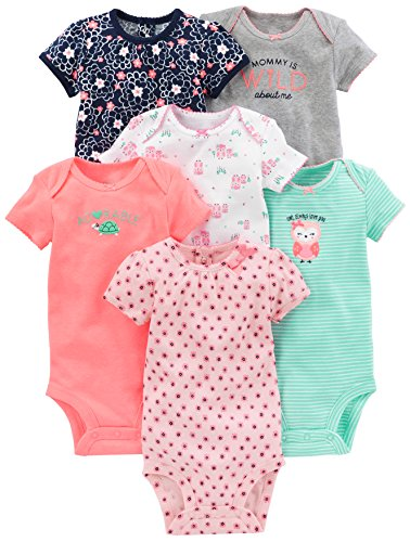 Simple Joys by Carter's Baby Girls 6-Pack Short-Sleeve Bodysuit