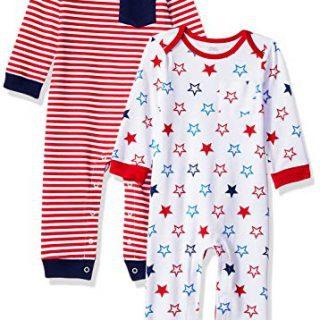 Amazon Essentials Baby 2-Pack Coverall, Uni Americana, Newborn