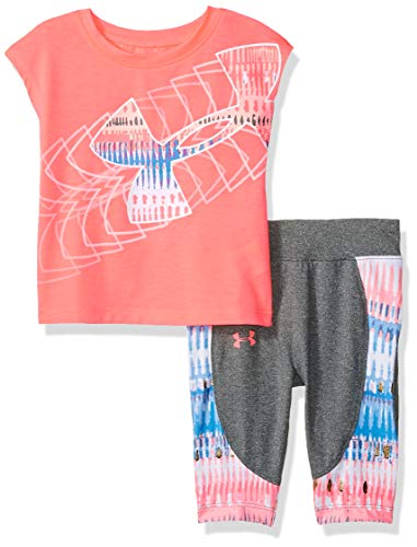 Under Armour Baby Girls Short Sleeve Tee and Capri Set, Brilliance