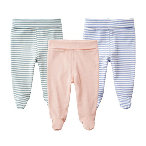 Teach Leanbh Baby Cotton High Waist Footed Pants Casual Leggings