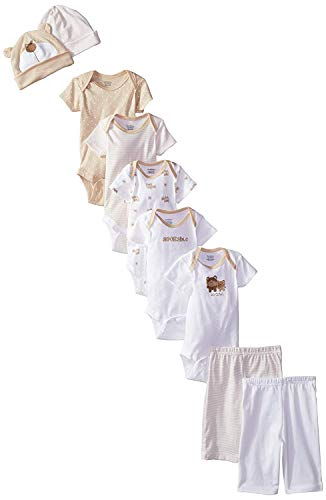 Gerber Unisex-Baby Newborn Bear 9 Piece Playwear Bundle, Bear