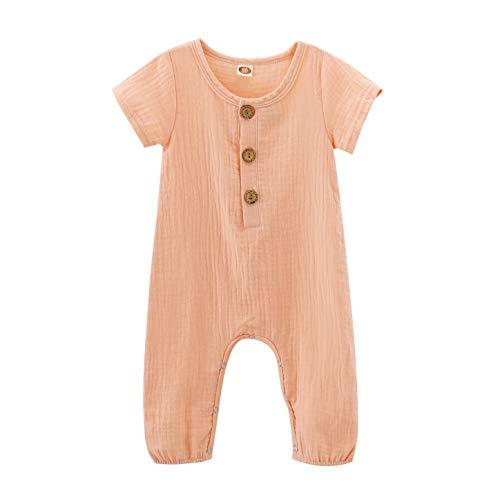 Infant Baby Girls Pink Romper Summer Jumpsuit Girl Short Sleeve Romper Girl Infant