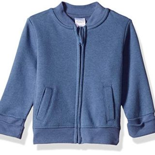 Hanes Ultimate Baby Zippin Fleece Jacket, Dark Blue