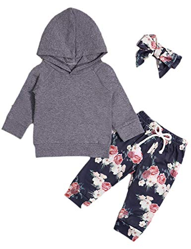 Newborn Infant Baby Girl Kids Clothes Fall Outfits Set Toddler Long Sleeve