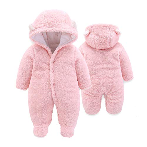 XMWEALTHY Baby Cloth Winter Coats Unisex Newborn Cute Jumpsuit Romper