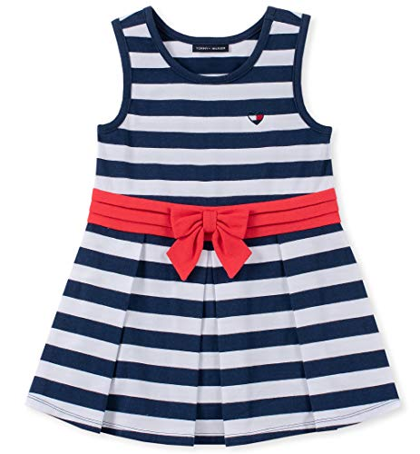 Tommy Hilfiger Baby Girls Dresses, Navy -White Stripes