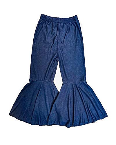 Castle Rose Boutique Soft Denim Bell Bottoms Navy