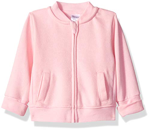 Hanes Ultimate Baby Zippin Fleece Jacket, Pink