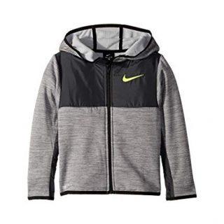 Nike Kids Boy's Winterized Therma Full Zip Hoodie (Little Kids) Cool Gray Heather
