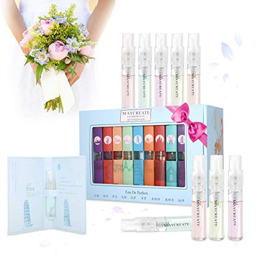 Hot Sale ! 1Set Of 9 PCS Perfume Gift Set for Women, Mini Scent Fragrances Spray