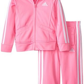 adidas girls Event Tricot Jacket Set Pink