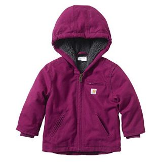 Carhartt Baby Girls Sherpa Lined Jacket Coat, Plum