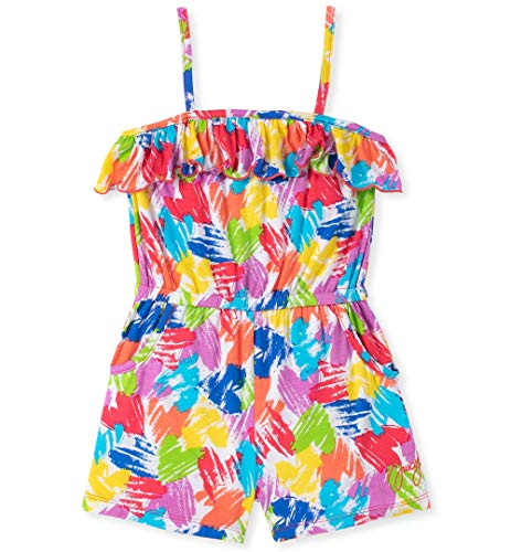 Juicy Couture Baby Girls Romper, Green/Yellow/Blue Print