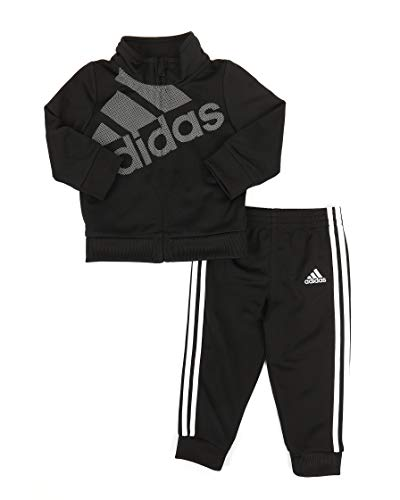 adidas Baby Girls' Tricot Zip Jacket and Pant Set