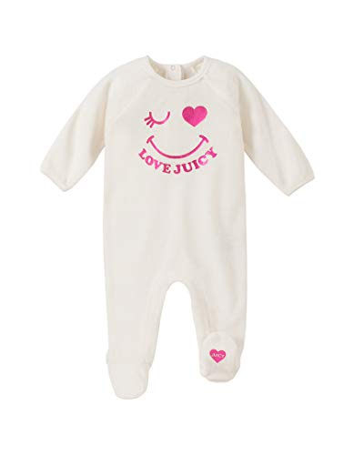 Juicy Couture Baby Girls Coverall, Vanilla/Pink