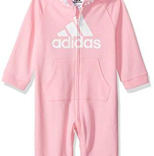 adidas Baby Girls Coverall, Light Pink ap