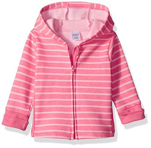 Hanes Ultimate Baby Zippin Fleece Hoodie, Pink Stripes Print