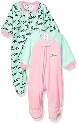 GERBER Baby Girls 2-Pack Blanket Sleeper, Pink Love