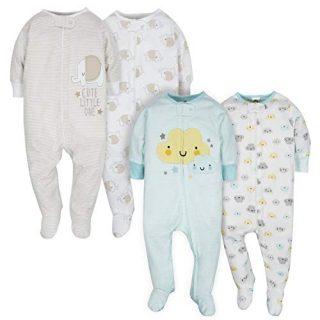 GERBER Baby 4-Pack Sleep N' Play, Clouds/Elephant