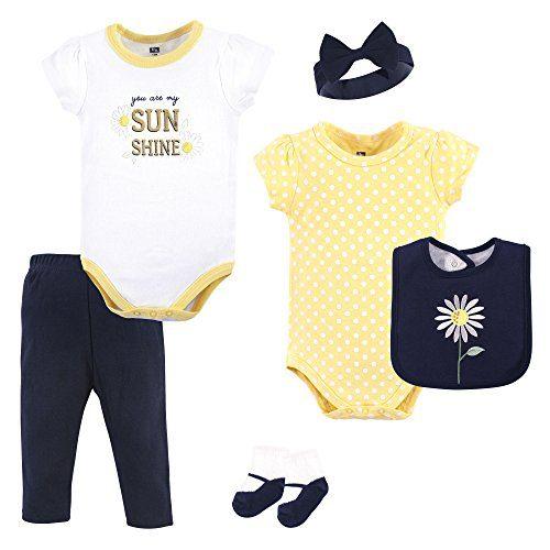 Hudson Baby Unisex Baby Cotton Layette Set, Daisy