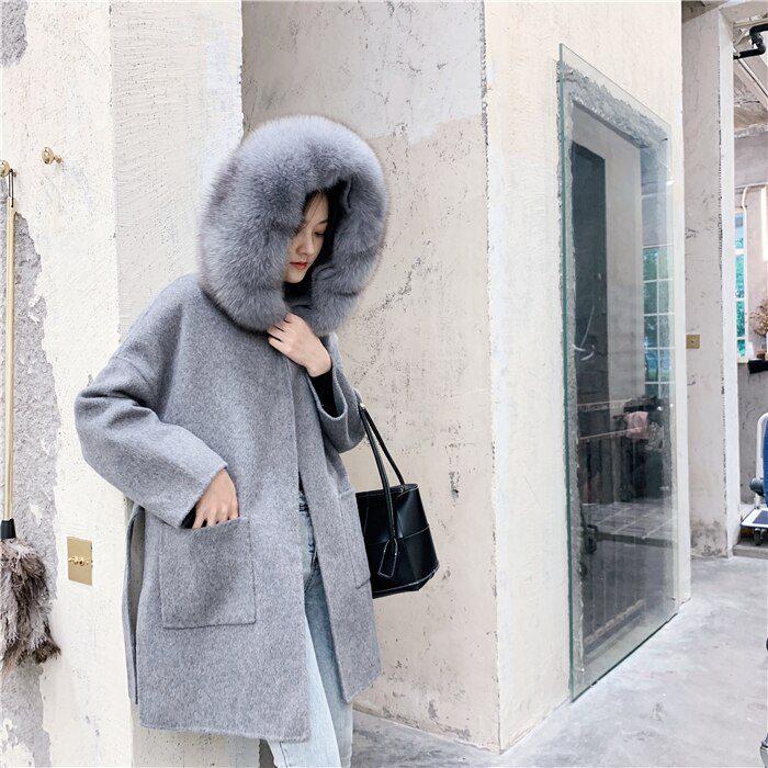 Fashionable Luxury Woman Coats Autumn Winter