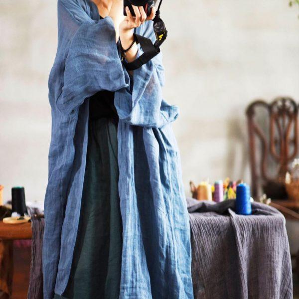 Plus Size Retro Woman Coat Japanese Kimono Cardigan